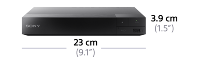 Dimensions of 3D Blu-ray Disc™ Player with Wi-Fi PRO