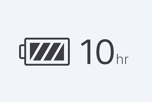 10-hour battery life icon
