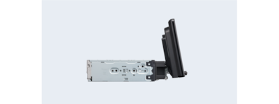 Product shot of XAV-AX8000 showing 3-way adjustable mount