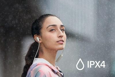 IPX4 splash and sweat proof rating
