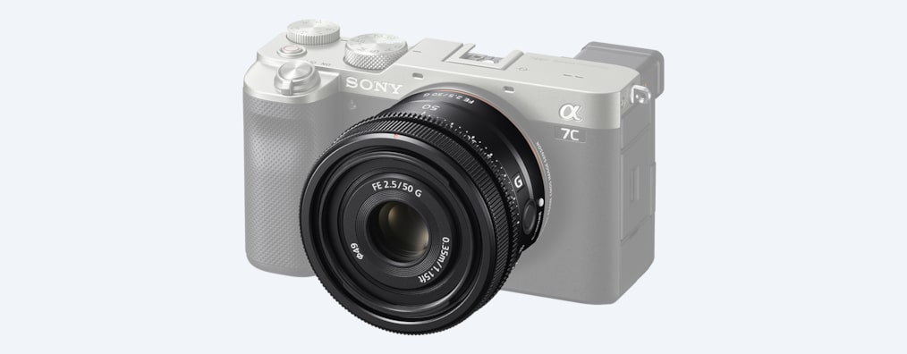 Product image with camera body attached